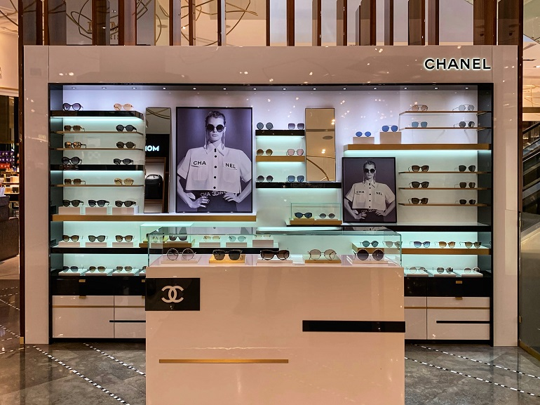 Chanel | Eyewear | 848-18, Luxottica, Chanel, Shop-In-Shops, Galeries Lafayette | The Dubai Mall | Dubai