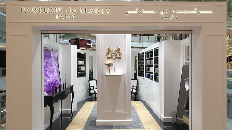 Parfums de Marly | Perfumes | 905-18,  Sprecher Berrier Group of Companies, Parfums de Marly, Boutiques, Kingdom Mall | Riyadh
