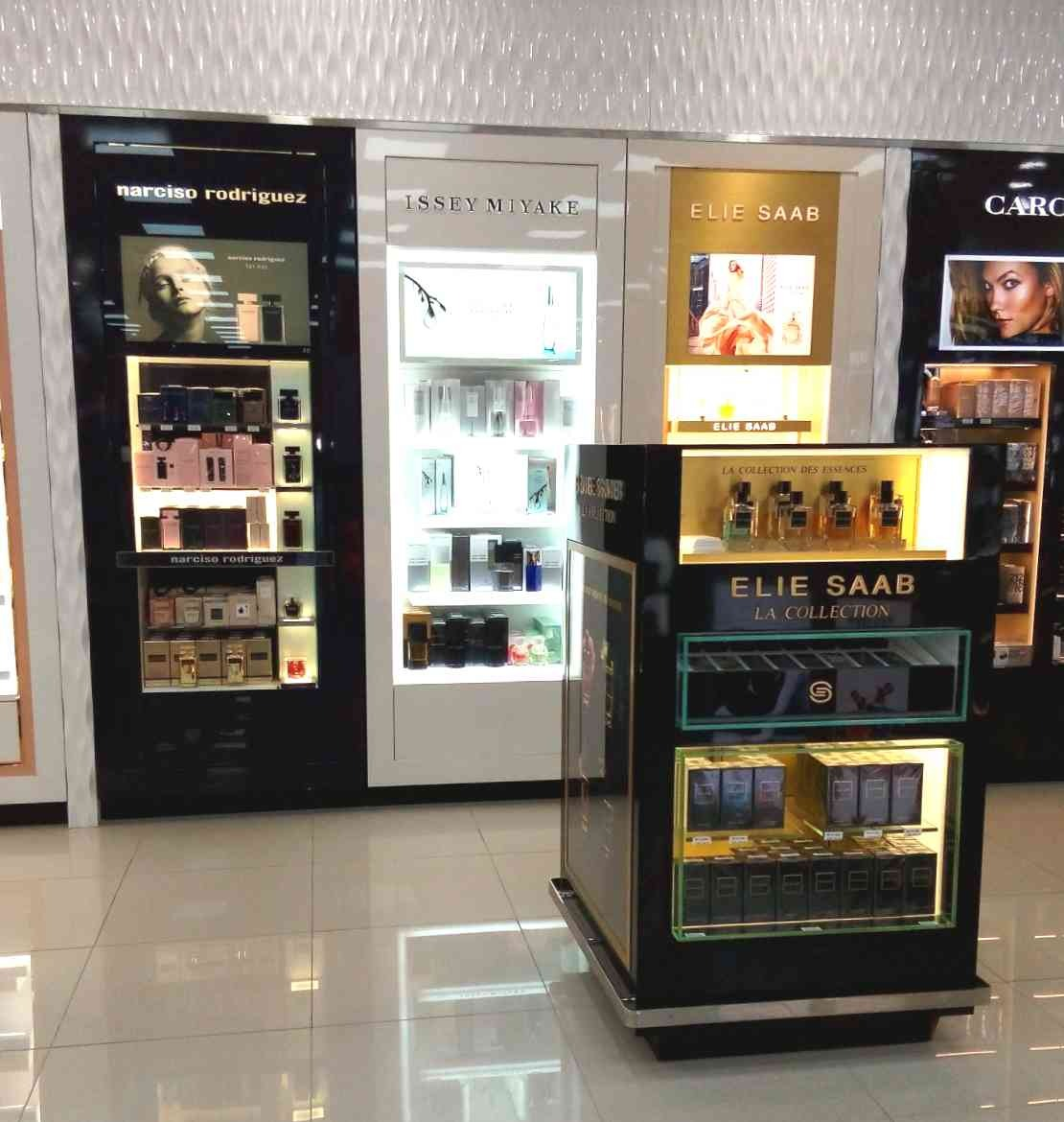 Elie Saab, Narciso Rodriguez & Issey Miyake | Perfumes | 360-16, Shiseido, Elie Saab, Narciso Rodriguez & Issey Miyake, Shop-In-Shops, Bahrain International Airport